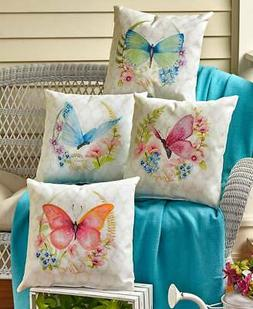"""16"""" Butterfly Indoor/Outdoor Accent Pillow Patio Sofa Bench"""