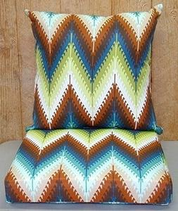 3 Sets Pueblo Flame Outdoor Dining Seat & Back Cushions ~ Te