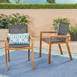 Great Deal Furniture 305155 Jimmy Outdoor Acacia Wood and Me
