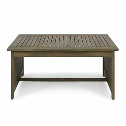 Great Deal Furniture 306041 Grace Outdoor Acacia Wood Coffee