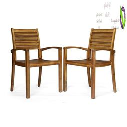 Great Deal Furniture 306431 Watts Outdoor Acacia Wood Dining