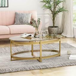 Great Deal Furniture 306667 Bell Tempered Glass Coffee Table