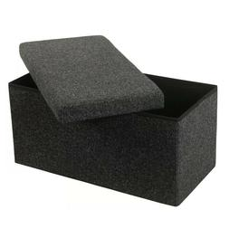 """32"""" Collapsible Design Modern Style Upholstered Storage Benc"""