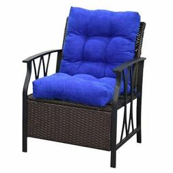 """42"""" Seat/Back Chair Cushion Tufted Pillow Indoor Outdoor Swi"""
