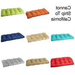 """42"""" Solid Bench Seat Outdoor Patio Cushions Wicker Furniture"""