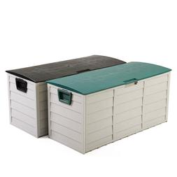 """44"""" Deck Storage Box Outdoor Patio Garage Shed Tool Bench Co"""