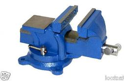 """5"""" Bench Vise with Anvil Swivel Locking Base Table top Clamp"""