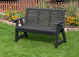 5Ft-Poly Lumber Amish Crafted Roll Back Porch Garden Bench W