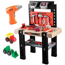 91pcs Kids Pretend Play Toy Tool Workshop Bench Table Set DI