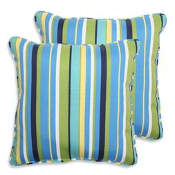 Pillow Perfect Outdoor Topanga Stripe Throw Pillow, Set of 2