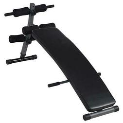 adjustable arc shaped decline sit up bench