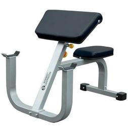 Adjustable Preacher Curl Bench Biceps Weightlifting Strength