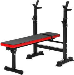 Adjustable Press Barbell Rack and Weight Bench - Exercise St