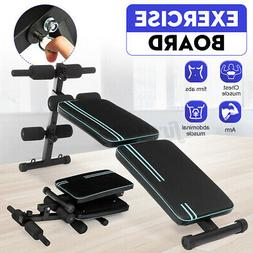 Adjustable Sit up Bench AB Flat Incline Decline Training Cru