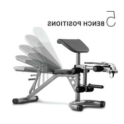 Adjustable Slant Workout Bench with 4-Roll Leg Lockdown Exer