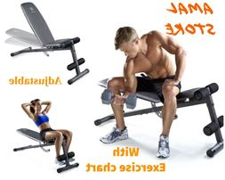 adjustable slant workout bench with 4 roll