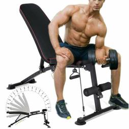 Adjustable Weight Bench Press Lifting Fold Incline Decline P