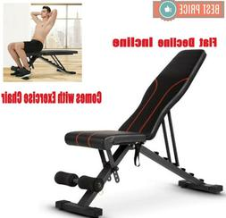 ADJUSTABLE WEIGHT Workout BENCH Press Flat Incline Abs Decli