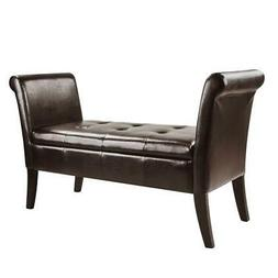 CorLiving Antonio Bench with Rolled Arms - Black