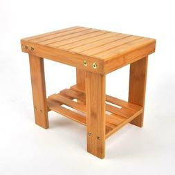 Bamboo Bench Wood Color Home Foot Stool Children Small Bench
