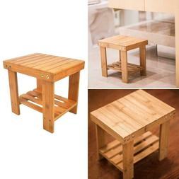 Bamboo Convenient Children Bench Stool Space-saving Safety A