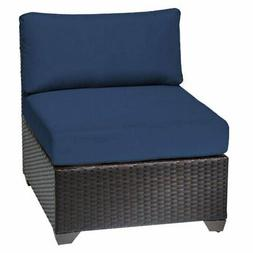 TK Classics Barbados Armless Outdoor Middle Chair with 2 Set
