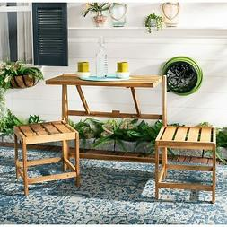 Safavieh Belamy Convertible Patio Bench in Natural