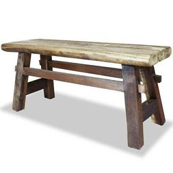 "vidaXL Bench 39.4"" Solid Reclaimed Wood Rustic Seat Entryway"