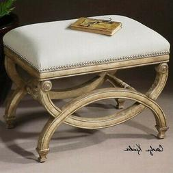 Uttermost 'Karline' Small Bench, Size One Size - White