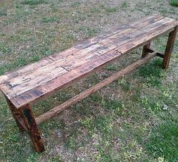 Bench - Handmade- Reclaimed Pallet Wood - Upcycled - Vintage