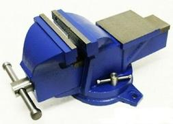 """4"""" Bench Vise With Anvil Swivel Locking Base Table Top Clamp"""
