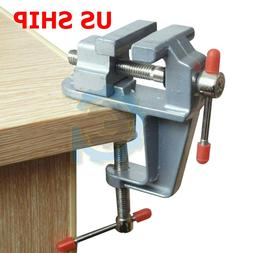 Bench Vise with Anvil Swivel Locking Base Table Top Press Lo