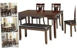 Bennox Dining Room Table and Chairs with Bench