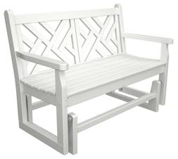 POLYWOOD CDG48WH Chippendale Glider in White