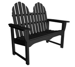POLYWOOD; Classic Recycled Plastic Adirondack Bench
