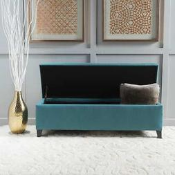 cleo fabric storage ottoman bench by large