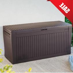 Keter Comfy 71 Gallon Resin Plastic Wood Look All Weather Ou