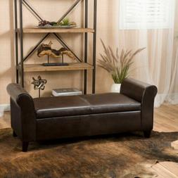 Danbury Contemporary Upholstered Storage Ottoman Bench with