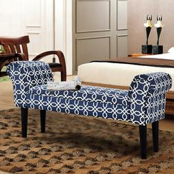 Costway Upholstered Armed Bed Benches For Entryway, Hallway,