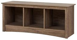 Prepac Cubby Bench, Drifted Gray