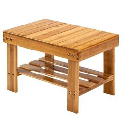 Cute Children Bench Bamboo Wood Wooden Color Home Kitchen St