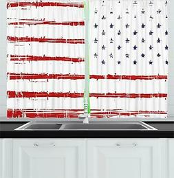 Digital Design Kitchen Curtains 2 Panel Set Window Drapes 55