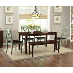 Dining Room Set Wooden Kitchen Table And Chairs Set With Ben