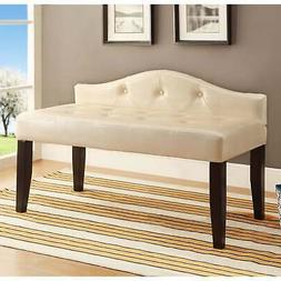Furniture of America Dols Contemporary 42-inch Faux Leather