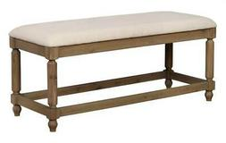 ember bench in washed brown and natural