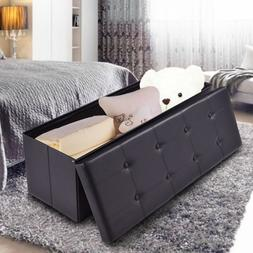 End Of Bed Storage Bench Seat Black Foot of Bed King Size Le