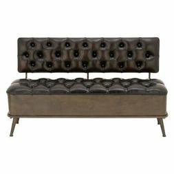 Excellent Metal Leather Storage Bench