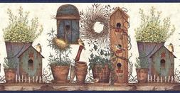 Expressions Wallpaper Border Paper Birdhouses
