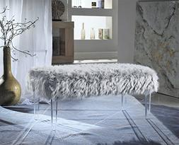 Iconic Home FBH2646-AN Trento Modern Contemporary Faux Fur A