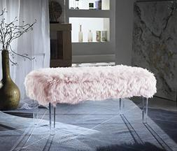 Iconic Home FBH2648-AN Trento Contemporary Faux Fur Acrylic
